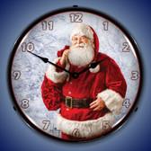 Jolly Santa Lighted Wall Clock 14 x 14 Inches