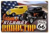Vintage-Retro Highway Roadstop Metal-Tin Sign - Personalized