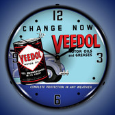 Veedol Oil and Grease Wall Clock 14 x 14 Inches