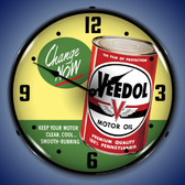 Veedol Change Oil Now Wall Clock 14 x 14 Inches