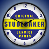 Studebaker Parts Lighted Wall Clock 14 x 14 Inches