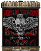 Radiator Snake Skull Metal Sign 24 x 32 Inches