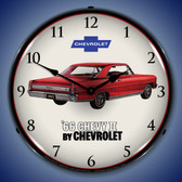 1966 Chevy II Nova Super Sport Lighted Wall Clock 14 x 14 Inches