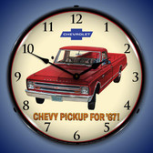 1967 Chevrolet Pickup Lighted Wall Clock 14 x 14 Inches