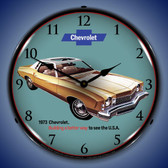 1973 Monte Carlo Lighted Wall Clock 14 x 14 Inches