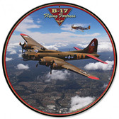 B-17 Flying Fortress  Round Metal Sign 28 x 28 Inches