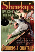 Vintage-Retro Pool Hall Metal-Tin Sign - Personalized