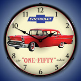 1957 Chevrolet One Fifty Lighted Wall Clock 14 x 14 Inches