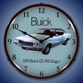 1970 Buick GS 455 Stage 1 Lighted Wall Clock 14 x 14 Inches