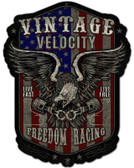Freedom Racing Star And Stripes Metal Sign 15 x 20 Inches