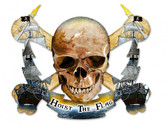 Skull Bolt Hoist The Flag Metal Sign 19 x 16 Inches