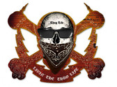 Skull Bolt Livin The Thug Life Metal Sign 19 x 16 Inches
