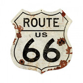 Route US 66 Metal Sign  28 x 28 Inches