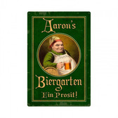 German Beer Garden Tin Sign -  Personalized 12 x 18 Inches