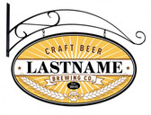 Craft Brewing Company Double Sided Oval Tin Sign - Personalized 24 x 14 Inches