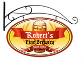 Fine Brewery Double Sided Oval Tin Sign - Personalized 24 x 14 Inches