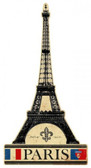Eiffel Tower Metal Sign 22 x 43 Inches