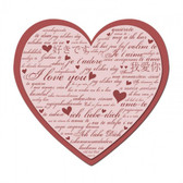 I Love You Heart Metal Sign 24 x 24 Inches