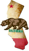 3-D California Bear Metal Sign 18 x 32 Inches