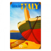 Italy Summer Metal Sign 18 x 12 Inches