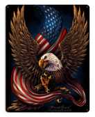 Eagle and Flag Metal Sign 15 x 12 Inches