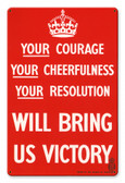Will Bring US Victory Metal Sign 18 x 12 Inches
