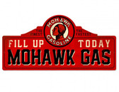 Mohawk Gas Station Metal Sign 26 x 12 Inches