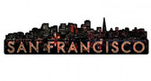 San Francisco Skyline Metal Sign  30 x 8 Inches