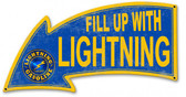 Fill Up With Lightning Gasoline Arrow Metal Sign 26 x 14 Inches
