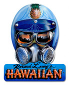 Vintage-Retro Roland Hawaiin Helmet Metal-Tin Sign