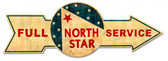 Full Service North Star Arrow Metal Sign 32 x 11 Inches
