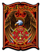 Firefighters Metal Sign 14 x 19 Inches
