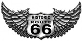 Route 66 Bike Metal Sign 30 x 15 Inches