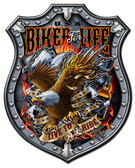 Bikers For Life Metal Sign 24 x 30 Inches