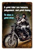 A Good Rider Girl Metal Sign 12 x 18 Inches