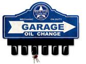 White Star Gasoline Metal Key Hanger 14 x 10 Inches