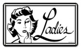 Vintage-Retro Ladies Metal-Tin Sign