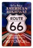 America's Highway Metal Sign 18 x 12 Inches