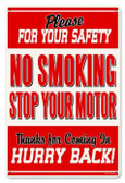 Vintage-Retro No Smoking Metal-Tin Sign LARGE