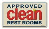 Vintage-Retro Approved Clean Metal-Tin Sign