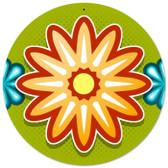 Vintage-Retro Flower 1 Round Metal-Tin Sign