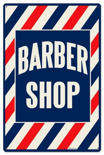 Vintage-Retro Barber Shop Metal-Tin Sign LARGE