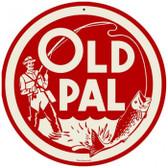 Vintage-Retro Old Pal Round Metal-Tin Sign