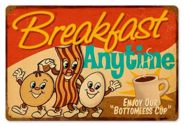 Vintage-Retro Breakfast Metal-Tin Sign