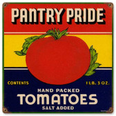 Vintage-Retro Pantry Tomatoes Metal-Tin Sign