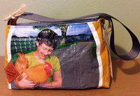 Purse Bolsa - Yellow Girl w/Chicken - Paymaster Fancy Scratch