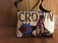 Purse Bolsa - Blue and White Horse - Triple Crown