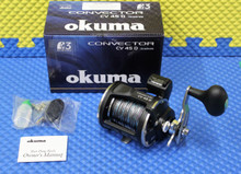 Okuma Convector CV 45D Line Counter Reel Pre-Spooled With Lead Core