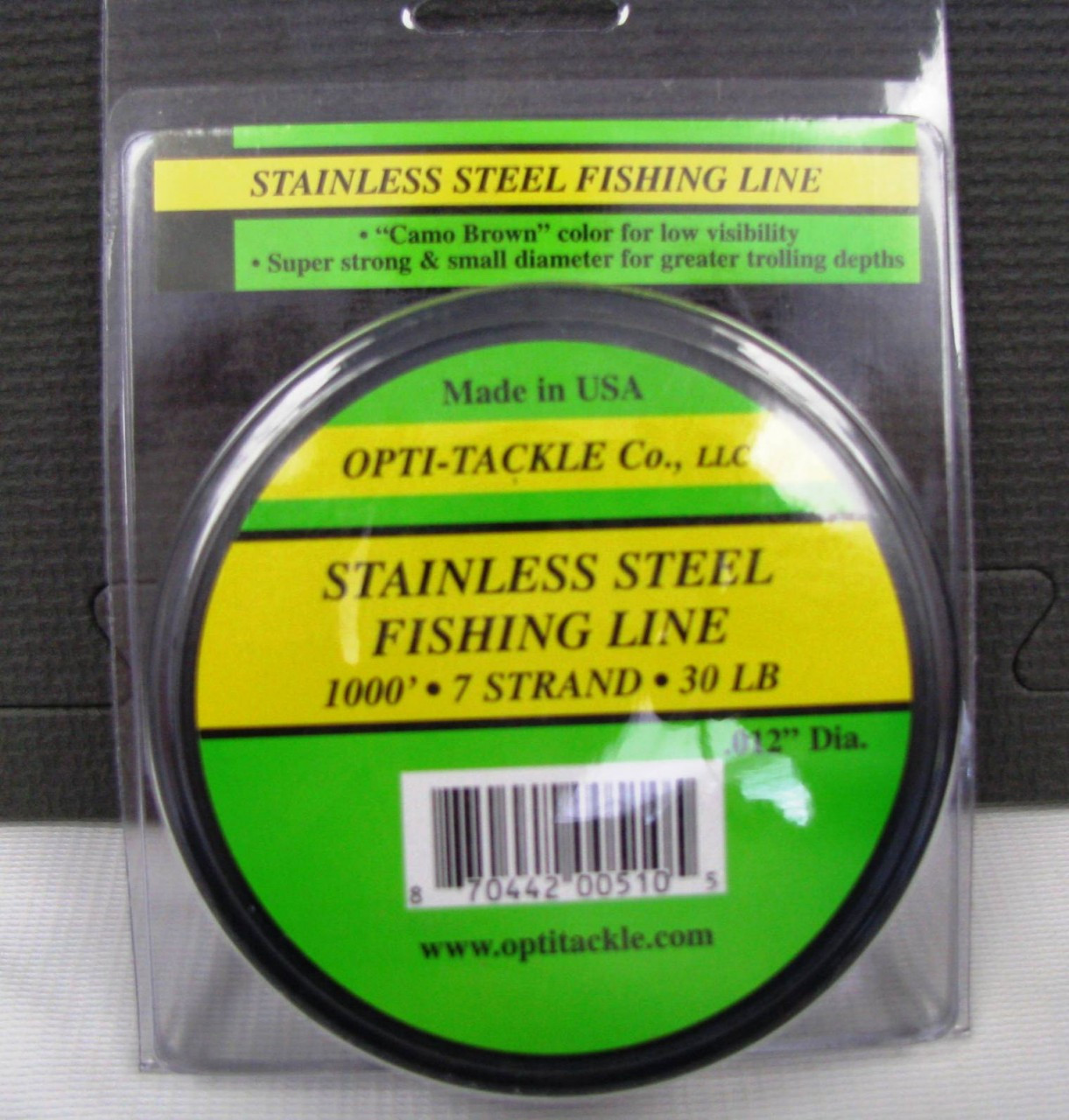 Opti tackle stainless steel fishing line tackle haven for Steel fishing line