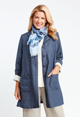 FINAL SALE! In The Trenches in Denim, Blush, Chambray (FLAX Neutral 2016)